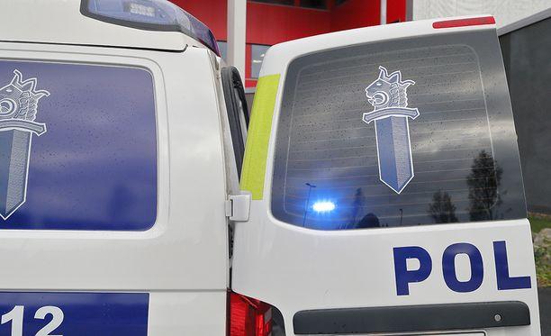 Poliisikoira Rike löysi kylmettyneen ja märän miehen maastosta. Arkistokuva.