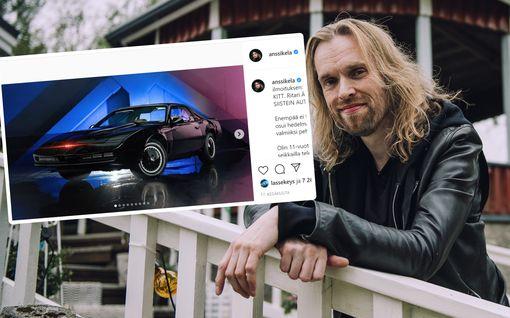 Anssi Kela rakensi oman Ritari Ässän KITT-auton – esittelee menopeliään