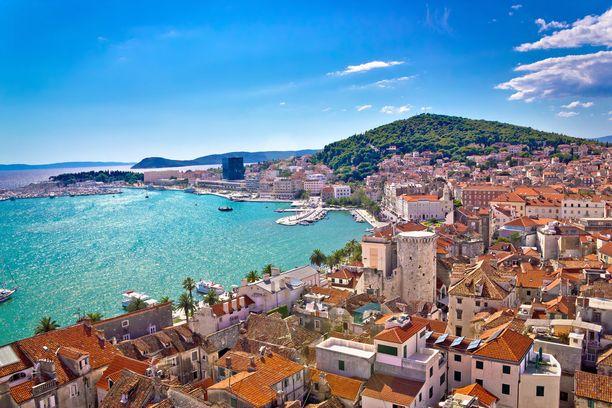 Tunnettu lomakaupunki Split on yksi Kroatian suosituimmista matkakohteista.