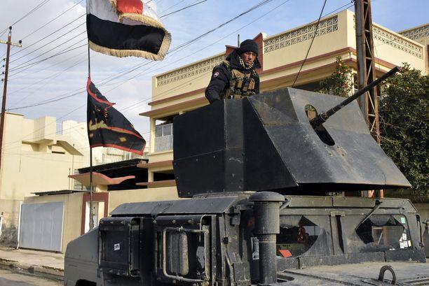 Erikoisjoukon sotilaat ovat näkyvästi esillä Itä-Mosulissa.