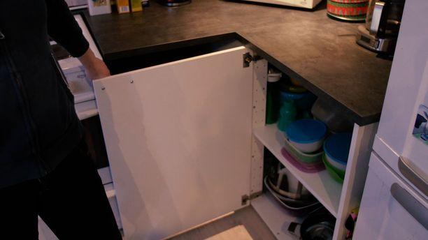 Keittiön pahamaineisin alakaappi on kulmakaappi.
