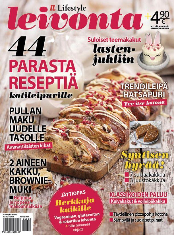 Leivonta-lehdestä löytyy runsaasti herkullisia reseptejä ja ammattilaisten kikkoja kotileivontaan.