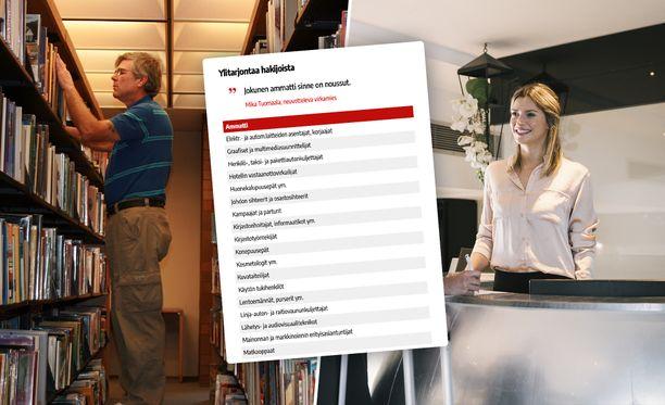 Yli 30 ammattia on sellaisia, joissa on ylitarjontaa hakijoista Suomessa.
