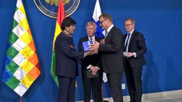 Sipilä tapasi Bolivian presidentti Evo Moralesin tällä viikolla.