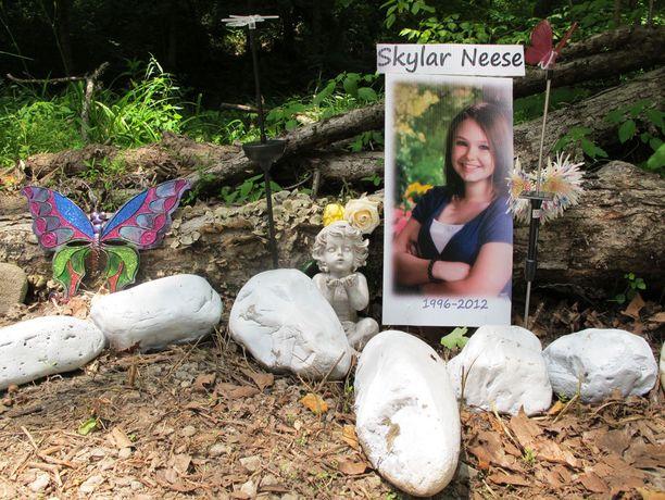 Skylar Neese tapettiin metsässä.