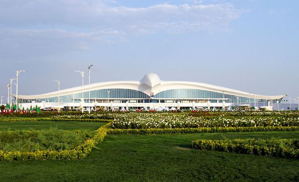 Ashgabatin kansainvälisellä lentokentällä ei tarvitse ruuhkia pelätä.