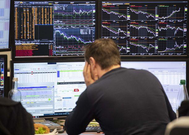 Pörssilukemat ovat tällä viikolla olleet ankeita.