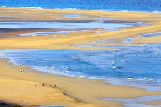 Upea Sotaventon ranta Fuerteventuran Jandialla.