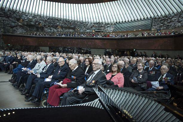 Talvisodan päättymisestä tuli maanantaina kuluneeksi 77 vuotta. Temppeliaukion kirkko oli ääriään myöten täynnä muistokonsertissa.