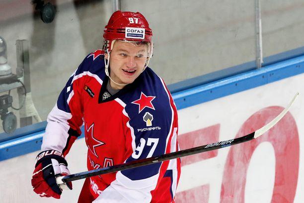 Kirill Kaprizov, 23, on KHL:n kaksinkertainen maalikuningas, joka ampui kultaisen jatkoaikamaalin olympiafinaalissa 2018.