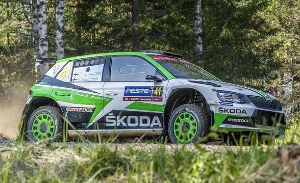Kalle Rovanperä pääsi ajamaan ensimmäistä kertaa Jyväskylän MM-rallia.