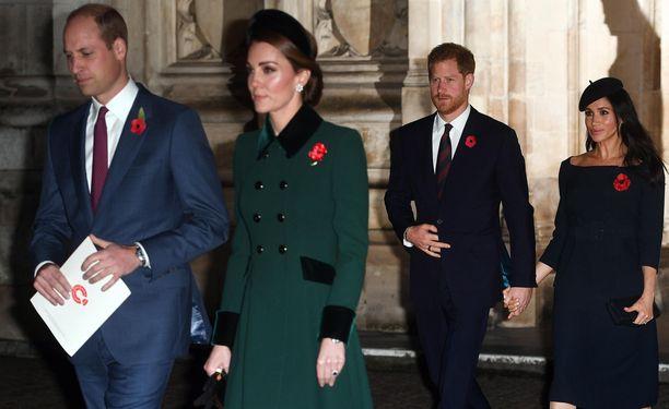 Prinssi William ja herttuatar Catherine nähdään samassa tilaisuudessa prinssi Harryn ja herttuatar Meghanin kanssa.
