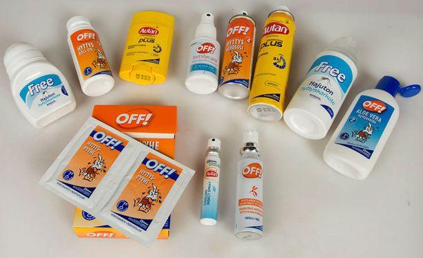 Monet hyttyskarkotevalmistajat ovat alentaneet tuotteidensa tehoainepitoisuuksia EU-direktiivin vuoksi.
