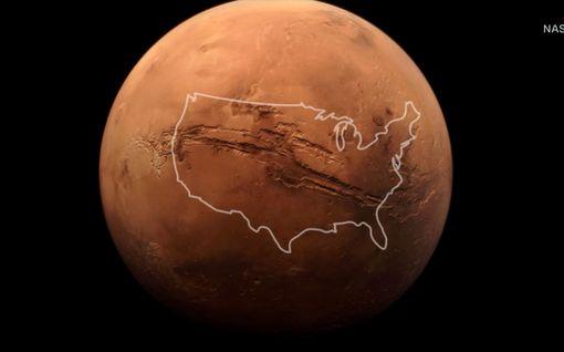 Nasa julkaisi uusia ennennäkemättömiä Mars-kuvia aurinkokuntamme syvimmästä kanjonista