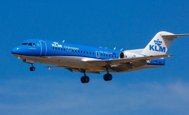 Fokker 70 -koneilla lennetään lyhyitä reittejä.