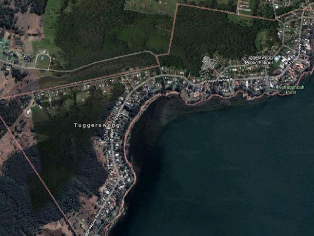 Tuggerawong sijaitsee noin 90 kilometrin päässä Sydneystä.