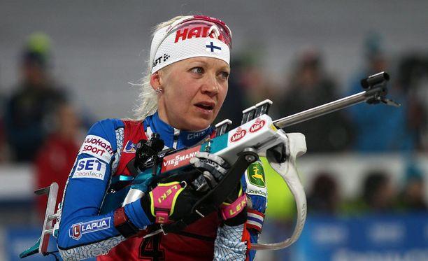 Kaisa Mäkäräinen sijoittui kolmanneksi ampumahiihdon maailmancupin kokonaiskilpailussa.