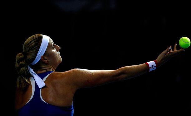 Petra Kvitova sai haavoja käteensä.