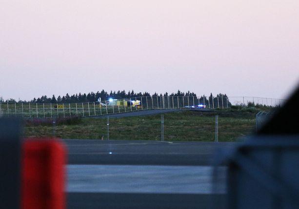 Onnettomuus tapahtui Tampere-Pirkkalan lentoasemalla keskiviikkona hieman ennen kello yhdeksää.