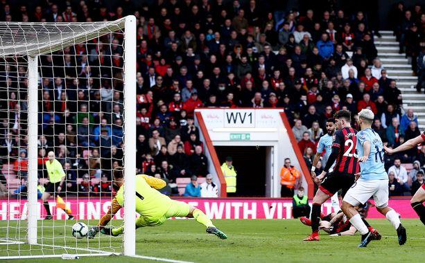 Riyad Mahrezin maali riitti Manchester Cityn 1-0-voittoon Lounais-Englannissa.