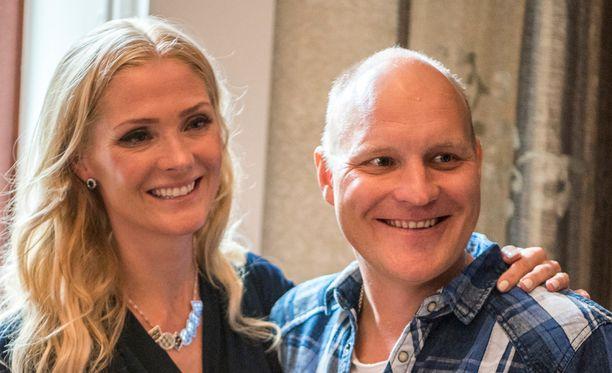 Riina-Maija ja Kalle Palander tapasivat vuonna 2004.