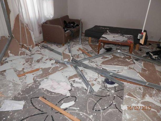 Kouvolalaismies tuhosi vuokra-asuntonsa asuinkelvottomaksi sunnuntain ja maanantain vastaisena yönä ja pakeni paikalta.