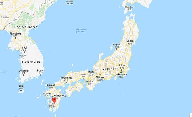 Purkautuva tulivuori Shinmoedake sijaitsee Kyushun saarella Japanin eteläisimmässä kärjessä.