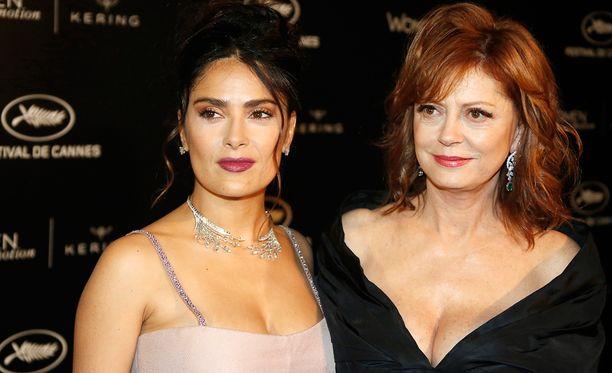 Salma Hayek ja Susan Sarandon edustivat yhdessä Cannesissa reilu viikko sitten.