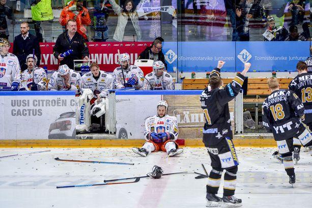 Jukka Peltola oli maansa myynyt keväällä 2015, kun Kärpät voitti kultaa.