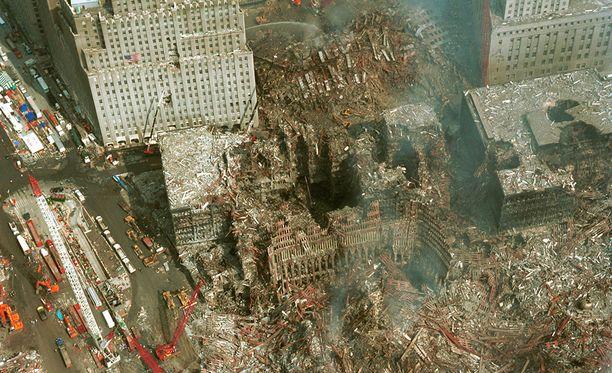 Syyskuun 2001 terrori-iskuissa tuhoituivat muun muassa WTC-tornit New Yorkissa.