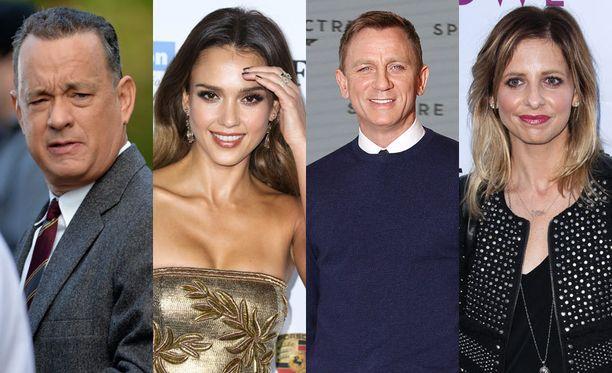 Tom Hanks, Jessica Alba, Daniel Craig ja Sarah Michelle Gellar luottavat salanimiin.