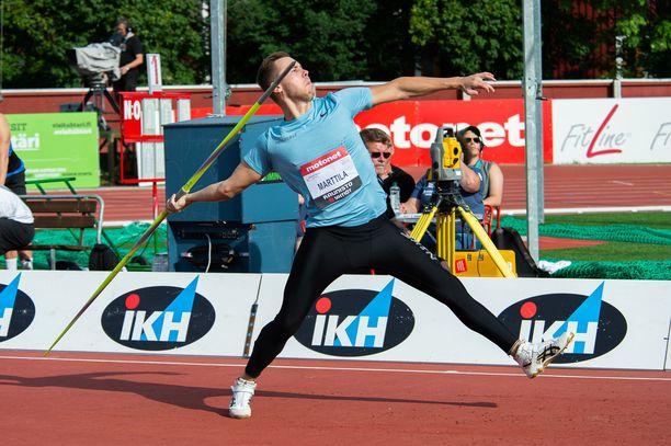 Jarmo Marttila liittyi 80 metrin kerhoon. Arkistokuvaa viime vuodelta.