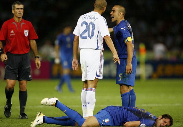 Marco Materazzi kieltää herjanneensa Zinedine Zidanea rasistisesti MM-finaalissa 2006.