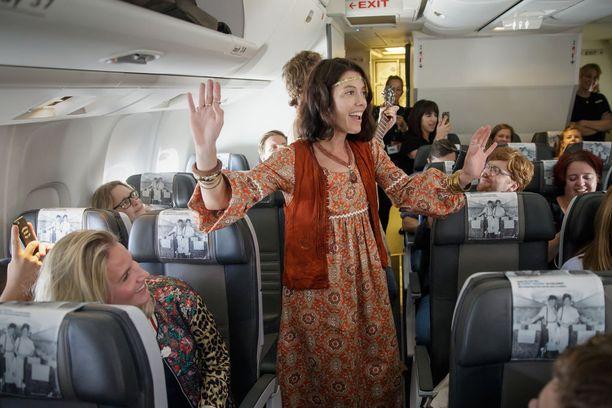 Harvemmin lennon aikana näkee tällaista viihdettä.