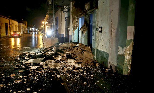 Pahiten maanjäristyksestä kärsi Oaxacan osavaltio.