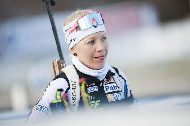 Kaisa Mäkäräinen onnistui Oberhofissa lauantaina.