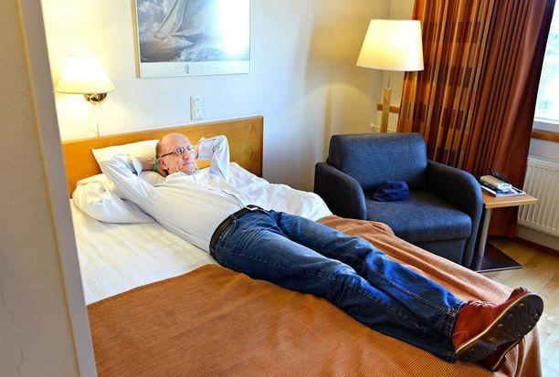 Tänä kesänä Siukosaari majaili kaksi kuukautta hotellissa, joten täysin irtaantunut hän ei ole entisestä kotikolostaan. Kuvat vuodelta 2015.