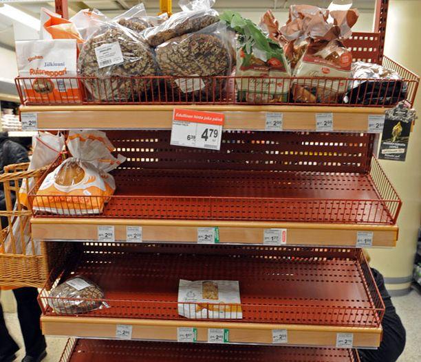 Työtaistelut ovat viime viikkoina jättäneet jälkensä kauppojen tavaravalikoimiin.