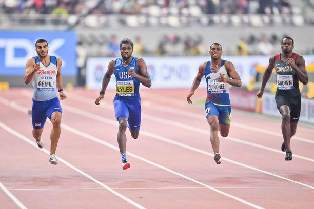 Noah Lyles voitti 200 metrin maailmanmestaruuden viime vuonna Dohassa.