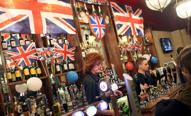 Perinteinen pubi Lontoossa.