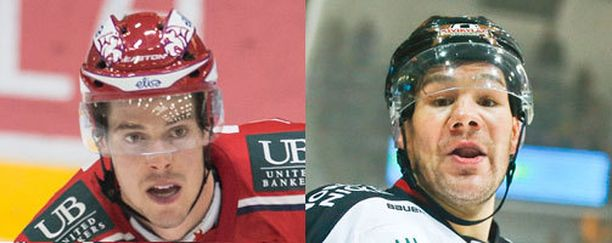 HIFK:n Matt Generous ja Ässien Josh Gratton ottivat yhteen Porissa.