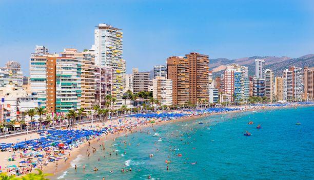 Espanjassa sijaitseva rantakaupunki Benidorm on suosittu erityisesti espanjalaismatkailijoiden keskuudessa.