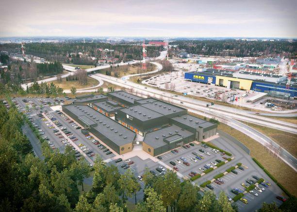 Outletin sijainti tulee olemaan Kehä III:n ja Lahden moottoritien kupeessa.