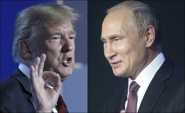 Yhdysvaltain presidentti Donald Trump ja Venäjän presidentti Vladimir Putin tapaavat maanantaina Helsingissä.