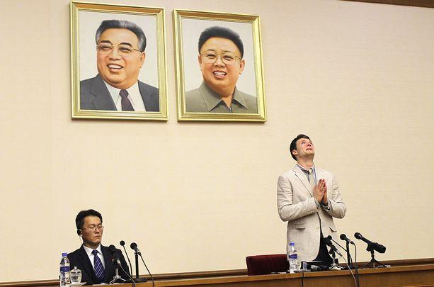 Otto Warmbier tunnusti syntinsä oikeudenkäynnissä Pjongjangissa viime vuonna.