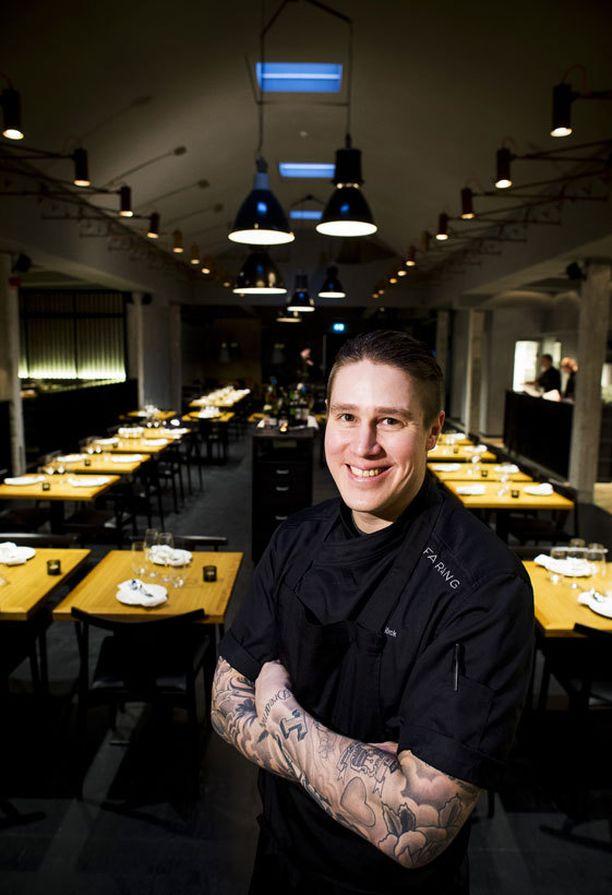 Björck juuri avatussa ravintolassaan Tukholmassa.