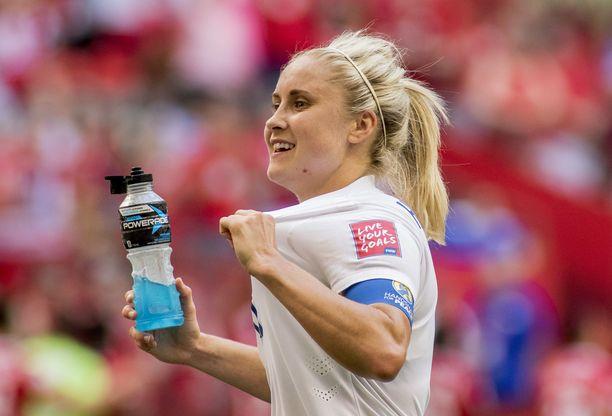 Stephen Darbyn vaimo Stephanie Houghton on Englannin ja seuransa Manchester Cityn kapteeni.