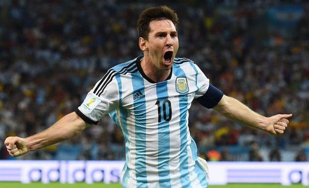 Lionel Messi ei hillinnyt tuuletustaan.