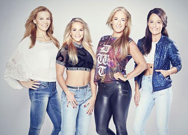 Fitness-ympyröistä tuttu naisnelikko tähdittää huhtikuussa alkavaa tosi-tv-sarjaa.