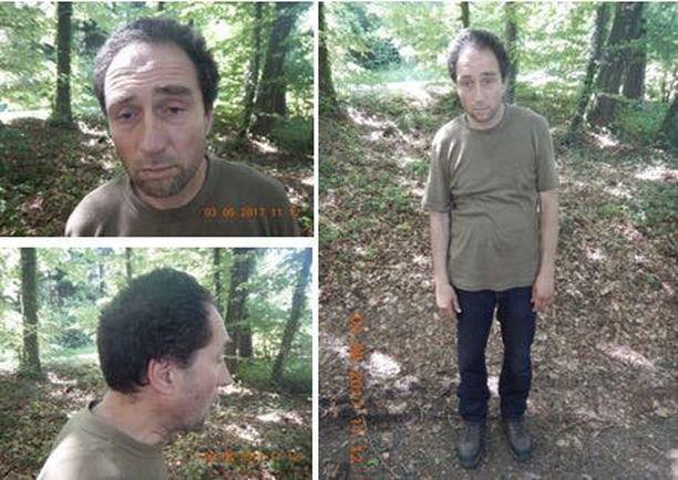 Poliisi julkaisi kuvat epäsiistin oloisesta Franz Wrousisista, joka asui metsässä.